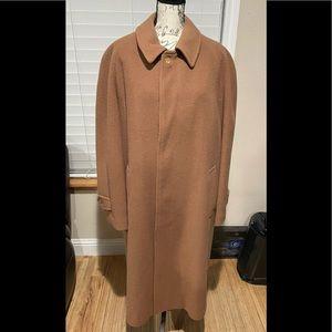 Authentic  vintage Burberry  camel hair men's coat